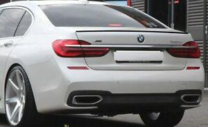 BMW G11 G12 Painted Gloss Black Rear Spoiler Lip 15-2020 Boot Lid Spoiler Trim