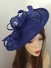 Hatinator Cobalt Royal Blue  Saucer Hat Wedding Formal Disc Fascinator