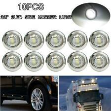 """10 Pcs Round 3/4"""" LED Rock Lights Mini Bullet Side Marker White Light RV Trailer"""