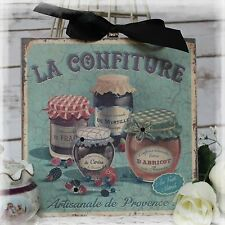 """~ """"LA CONFITURE"""" Shabby Chic Vintage Country Cottage style Wall Decor Sign ~"""