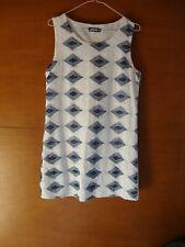 Sophyline Blue & White Sleeveless Knee Length Dress Size M