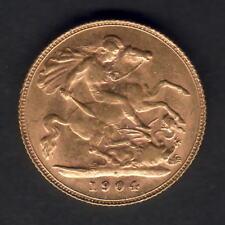 Australia.  1904 Perth - Half Sovereign..  Much Lustre..   EF/gEF