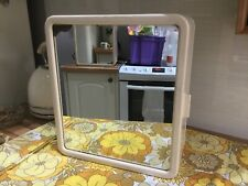 Vintage Retro 1960s Plastic Bathroom Cabinet Foxed Mirror Wall Mount Sturdy