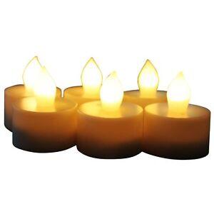 EcoGecko Set of 6 Indoor/Outdoor Flameless LED Tealight Candles w/ 4 or 8 Timer