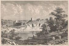 C1167 Wales - Chepstow Castle - Xilografia d'epoca - 1867 old engraving