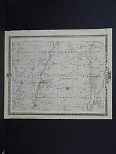 Iowa, Montgomery County Map, 1875 Reversible, See Description! M3#85