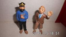 TINTIN Lot de 2 figurinesTintin et capitain haddock -bully hergé