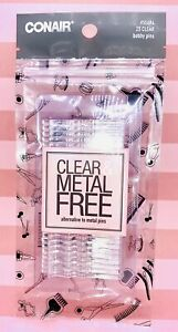 Conair Clear and Metal Free Alternative Bobby Pins Clear 25 Count