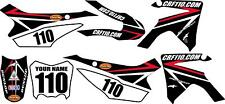 2013-2018 HONDA CRF110 Complete Graphics Kit - Black Arrow Design - CRF110.com