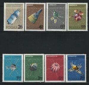 POLAND - #1466-#1473 - CONQUEST OF SPACE MINT SET (1966) MNH