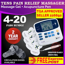 TENS Machine Massager Unit XFT320A +Acupuncture Pen w/Extra Pads BUNDLES Physio