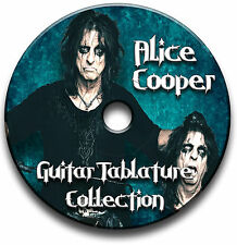 ALICE COOPER HEAVY METAL ROCK GUITAR TAB TABLATURE SONG BOOK SOFTWARE CD