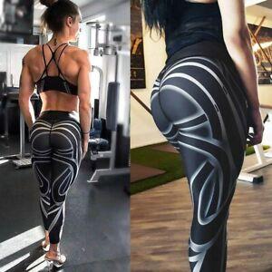 DESIGNER WOMEN SPORTSWEAR- Soft  Casual Women 3D Print Pattern Black Legging