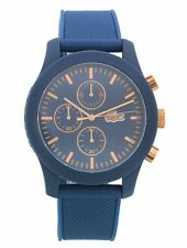 Lacoste Men's 12.12 Silicone Strap S/Steel Case Blue Dial Analogue Watch