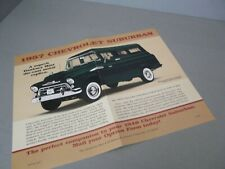 FLIER-BROCHURE ONLY(NO CAR)-1/24-DANBURY MINT-1957 CHEVY CHEVROLET SUBURBAN