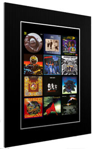 MOUNTED / FRAMED PRINT THIN LIZZY DISCOGRAPHY 3 SIZES PRINT POSTER ARTWORK