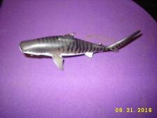 "Tiger shark plastic toy figure replica model realistic 5"" long"