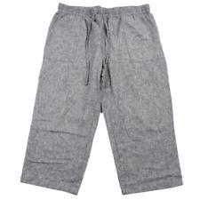 Christopher & Banks Gray Linen Blend Capri Pants Women's Size Large