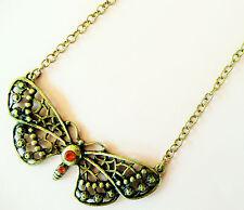 Collana in oro Accessorize-Grande Farfalla Design con belle Pietre Arancione