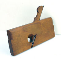 "Antique Wood Molding Plane 9-3/8"" Beech Skew Rabbet : R. CARTER Troy NY 1833-62"