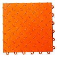Orange - Gen 1 Speedway Garage Tile Diamond Plate - Matte Finish - FINAL SALE