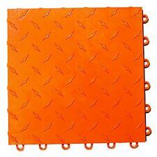 ORANGE Speedway garage floor tiles - 6 Lock Diamond plate