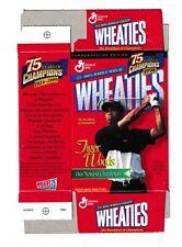 1998 TIGER WOODS 75TH ANNIVERSARY MINI WHEATIES BOX UNFOLDED !!!! QUANTITY!!!
