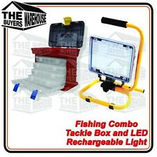 160 LED LIGHT STAND RECHARGEABLE BATTERY TACKLE BOX FISHING PLANO COMPETITOR