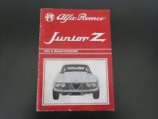Alfa Romeo Junior Zagato 1.3 / Instruction Book  11/1969 (ITALIAN)