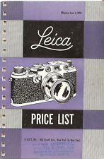 1953 LEICA CAMERA PRODUCT CATALOG BROCHURE -LEICA If-IIf-IIIf CAMERAS