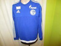 """FC Schalke 04 Adidas Spieler Sweatshirt/Pullover 2014/15 """"Gazprom"""" Gr.M TOP"""