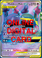 1X Muk & Alolan MUk GX 196/214 Unbroken Bonds Pokemon TCG Online Digital Card