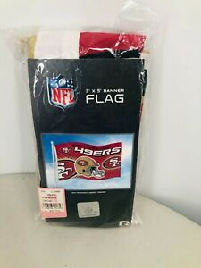 Rico Industries NFL 3'x5' Banner Flag Indoor and Outdoor San Francisco 49er's Fl