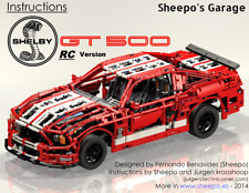Sheepo's Lego Technic Custom Ford Mustang Shelby GT500 RC, ONLY INSTRUCTIONS!!