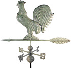 Dalvento 204V Rooster Weathervane Aluminum with Traditional Directionals and Glo