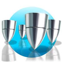 8x DYNAVOX Lautsprecher Boxenfüße Spikes Füße Absorber Chrome Silber Rund #NEU*