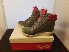 NIB RYKA Aurora Size 6 Medium Grey & Pink Fashion Sneaker Boots W/ Extra Laces