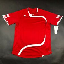 Adidas Climacool Boy Youth L Golpe Red White Soccer Jersey Shirt NWT