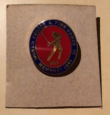 World Police and Fire Games IV - Golf - Memphis 1991 Pin - Enameled