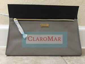 ☀️ NEW Estee Lauder Gray Black Bag Makeup Cosmetic Clutch Travel Purse Women
