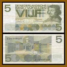 Netherlands 5 Gulden, 1966 P-90 Circulated (Cir)