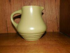 "Nitto Genuine Stoneware Japan Creamer Moss Green 4"""