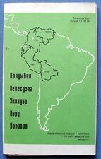 1982 Colombia Venezuela Ecuador Peru Bolivia Reference Map Brochure Cartography