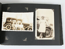 1920S PHOTO ALBUM OF CARS, PEOPLE, PICNICS, AND MORE