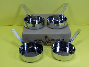 LOT OF 4 American Metalcraft SHSP41 Stainless Steel Mini Fry Pan 13 Oz NEW 4 3/4