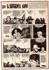 hugo pratt IL SERGENTE KIRK puntata 234 ritaglio da quotidiano 1980 SGT sargento