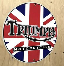 Triumph British Motorcycle Retro Style Metal Garage Sign Reproduction