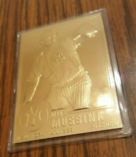 Mike Mussina 2000 Danbury Mint Sealed 22 kt Gold Card # 181