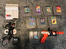 Nintendo NES Top Loader Mario Bros & Zapper Gun Dog Bone Controller Games Lot
