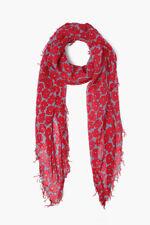 Chan Luu MODERN FLORAL PRINT English Manor Cashmere Silk Scarf Wrap GORGEOUS RED